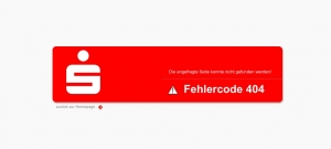 Verschrecken der User auf https://www.sparkasse-mainfranken.de/404
