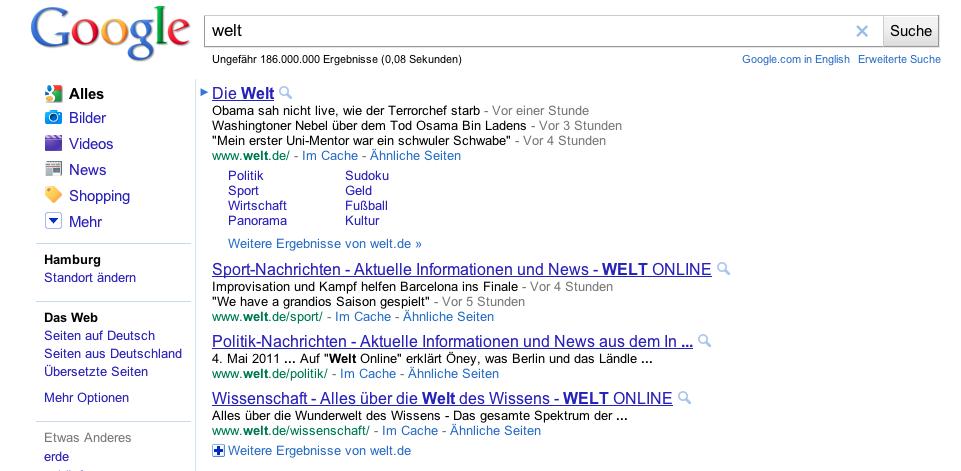 Artikellinks Welt.de