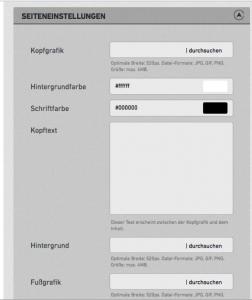Facebook Impressum Generator Seiteneinstellungen