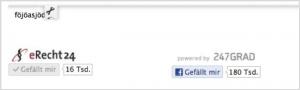 Facebook Impressum Ansicht der Dienstleister