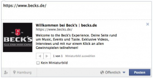 Facebook Snippet Beck's