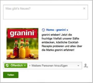 Google+ Snippet Granini