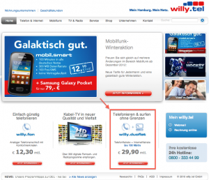 (2) Startseite von Willy.Tel