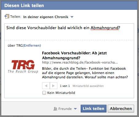 Facebook Vorschaubild