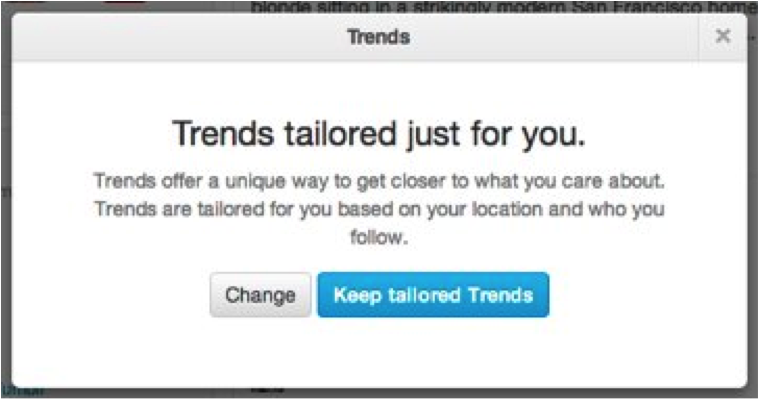 Twitter Trends Tailored for you
