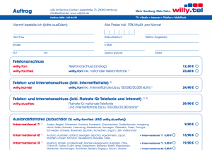 (5) Bestellprozess in der PDF bei Willy.Tel