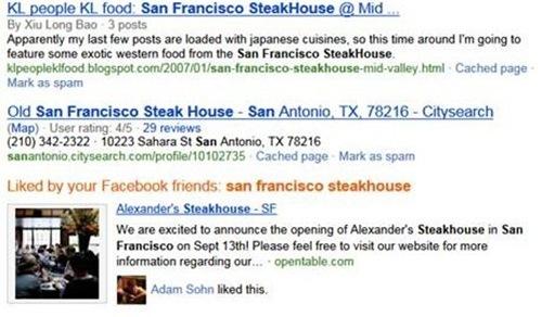 Bing integriert Facebook Likes in seine SERPs
