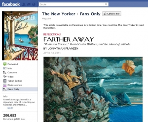 Artikel des New Yorker exklusiv für Fans