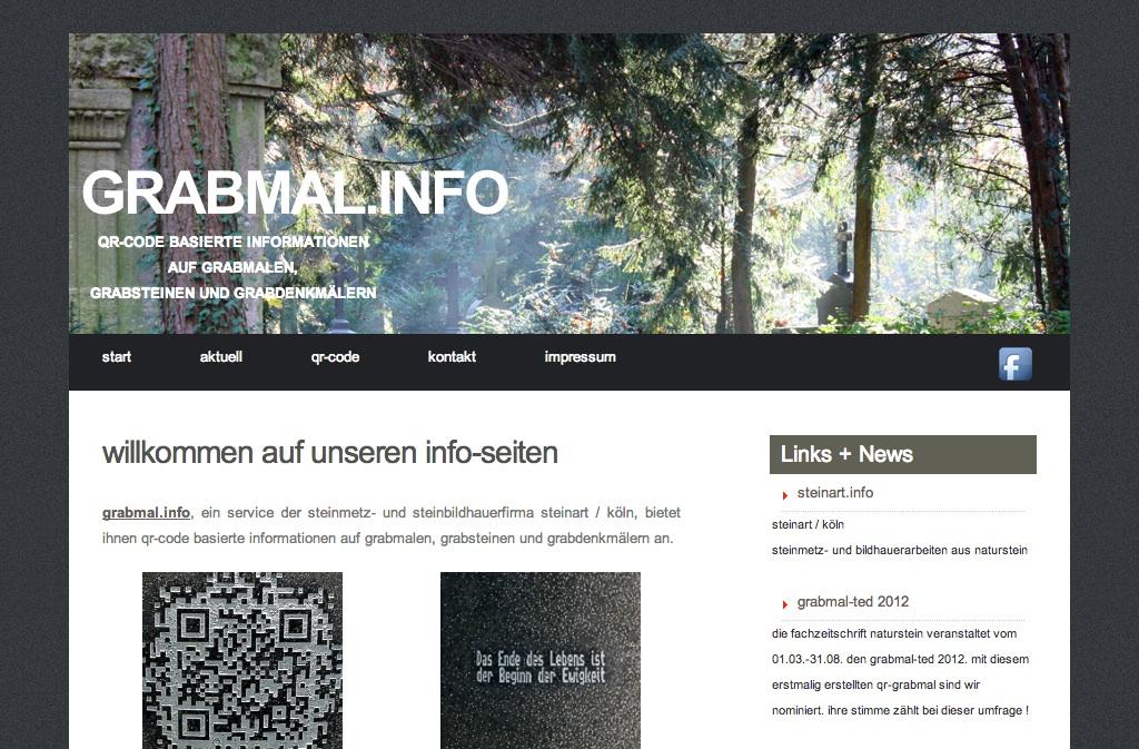 Grabmal.info Gedenksteine mit QR Code