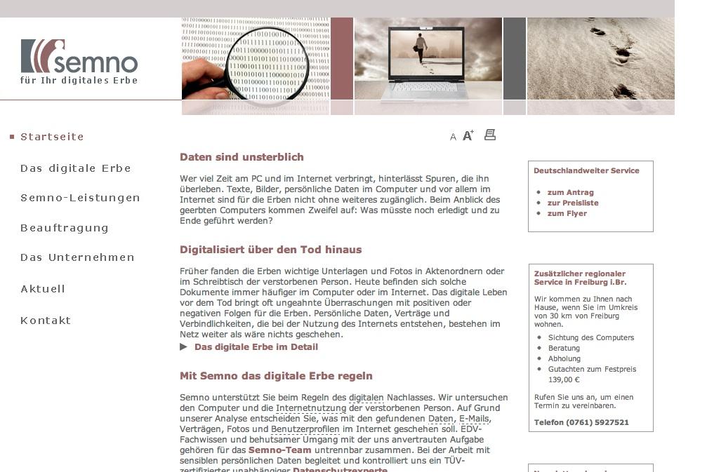 Semno - Digitale Nachlassverwaltung