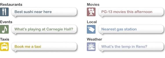 Siri: Anwendungsbeispiele