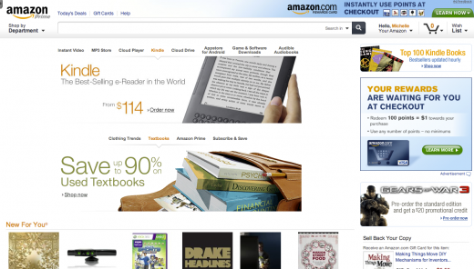Amazon Redesign Homepage