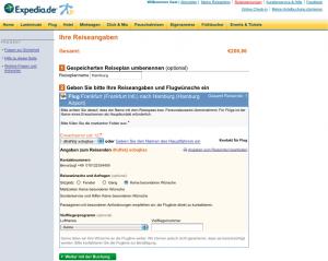Keine Orientierung und Struktur bei Expedia: Der Fortschrittsindikator fehlt