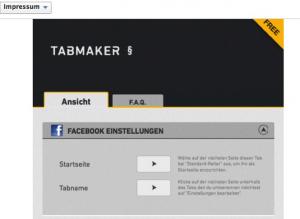 Facebook Impressum Generator Startseite