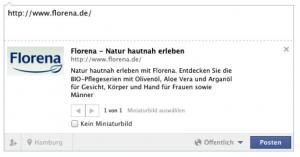 Facebook Snippet Florena
