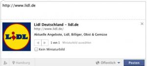 Facebook Snippet Lidl