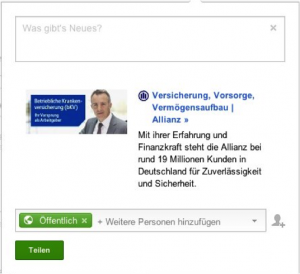 Google+ Snippet Allianz