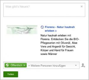 Google+ Snippet Florena