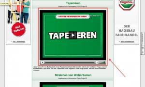 (4) Heimwerkertipps im Online Shop von Hagebau - Beispiel Tapezieren
