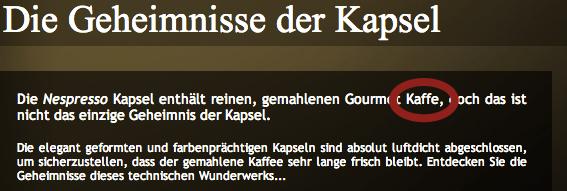 """Kategorieseite """"Die Geheimnisse der Kapsel"""" von Nespresso"""