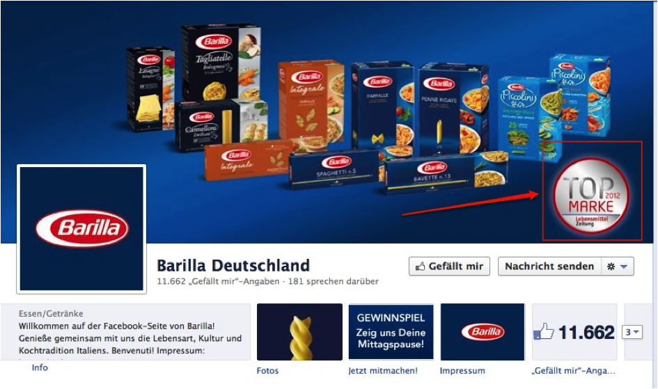 Facebook Barilla Header Grafik