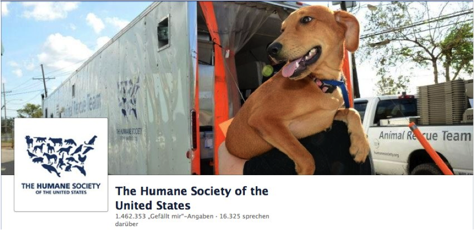 The Human Society of the United States Facebook Page