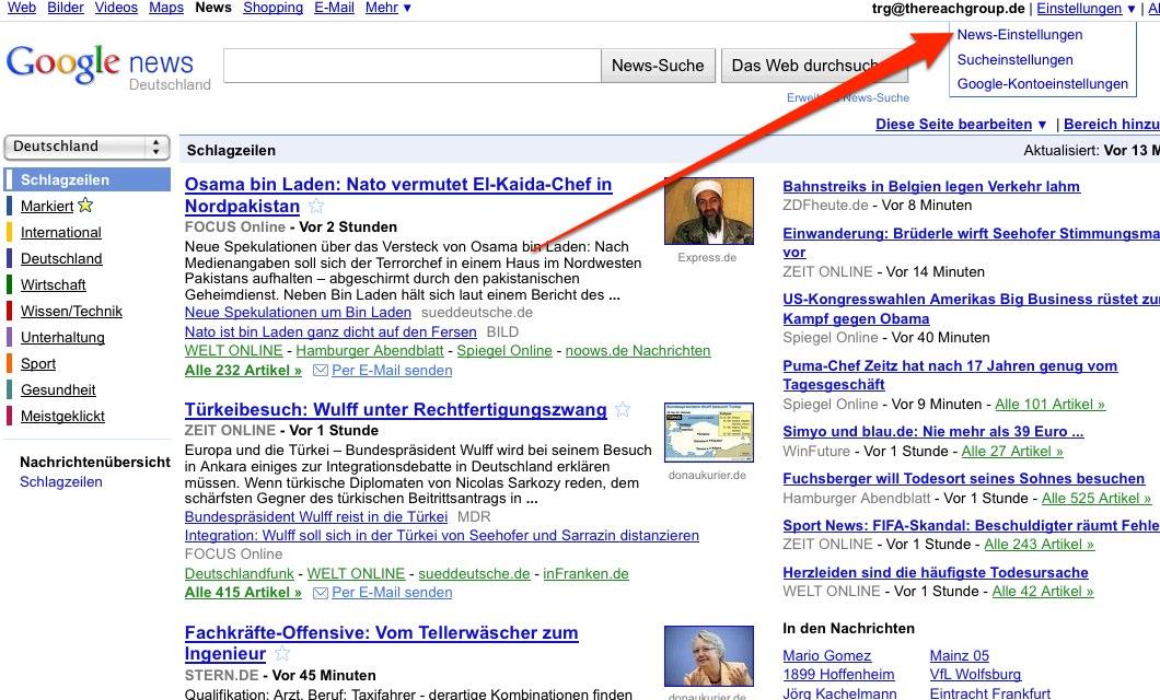 Google News Quellen Ausschließen